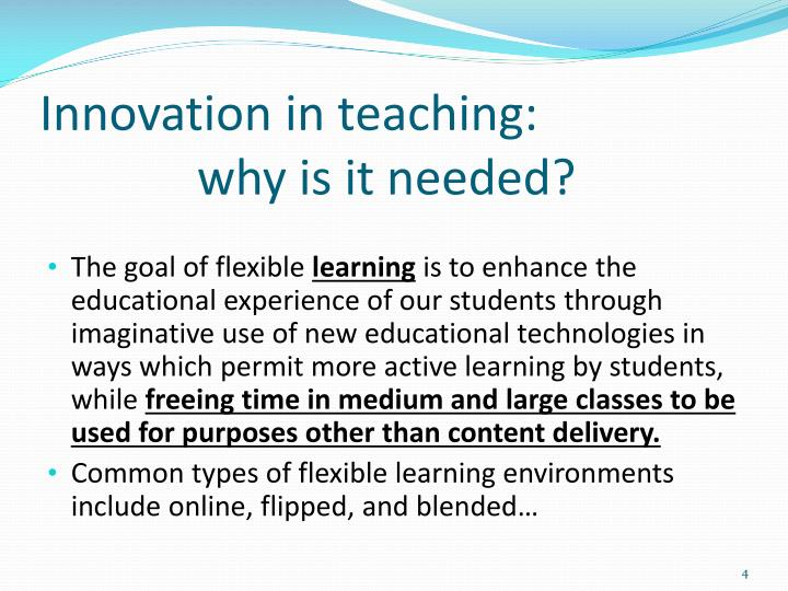 Innovation in teaching: