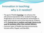 innovation in teaching why is it needed