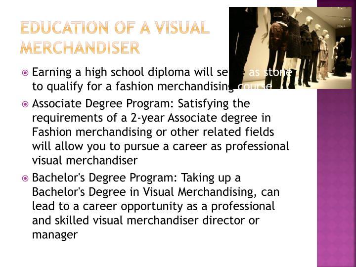 Education of a Visual Merchandiser