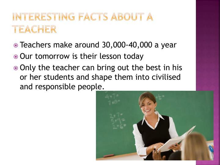 Interesting Facts about a Teacher