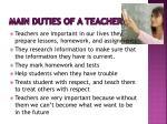 main duties of a teacher