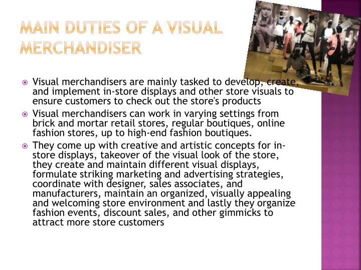 Main Duties of a Visual Merchandiser