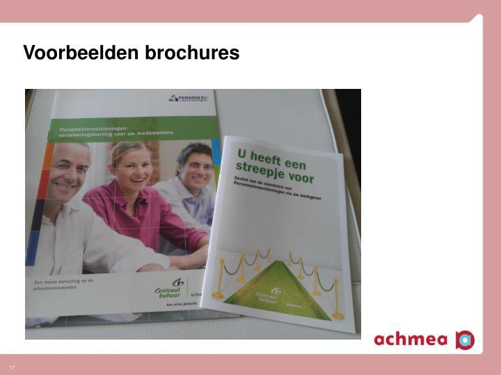 Voorbeelden brochures
