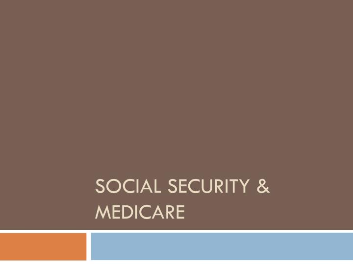 social security medicare