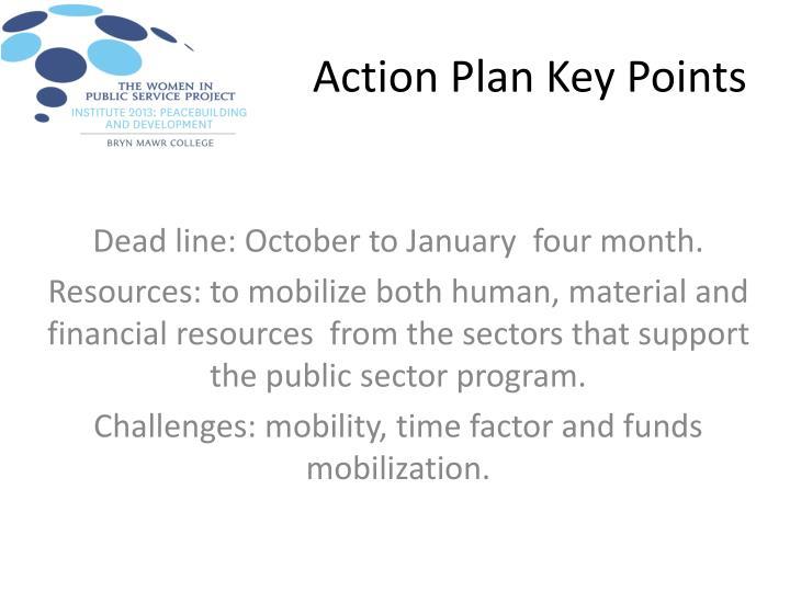 Action Plan Key Points