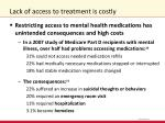 lack of access to treatment is costly1
