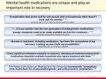 mental health medications are unique and play an important role in recovery2