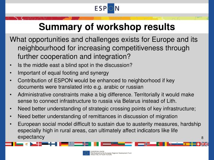 What opportunities and challenges exists for Europe and its neighbourhood for increasing competitiveness through further cooperation and integration?