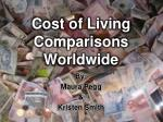 cost of living comparisons worldwide