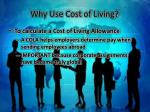 why use cost of living