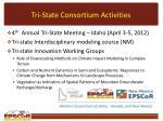 tri state consortium activities
