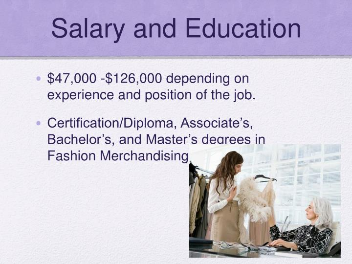 Salary and Education