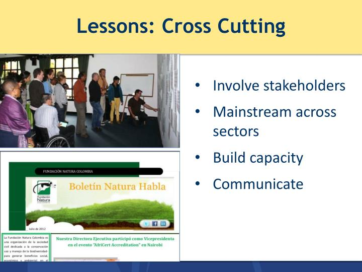 Lessons: Cross Cutting