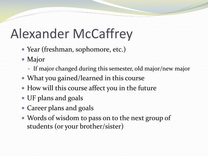 Alexander McCaffrey