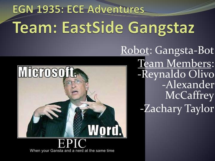 Egn 1935 ece adventures team eastside gangstaz