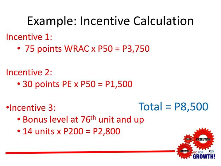 Example: Incentive Calculation