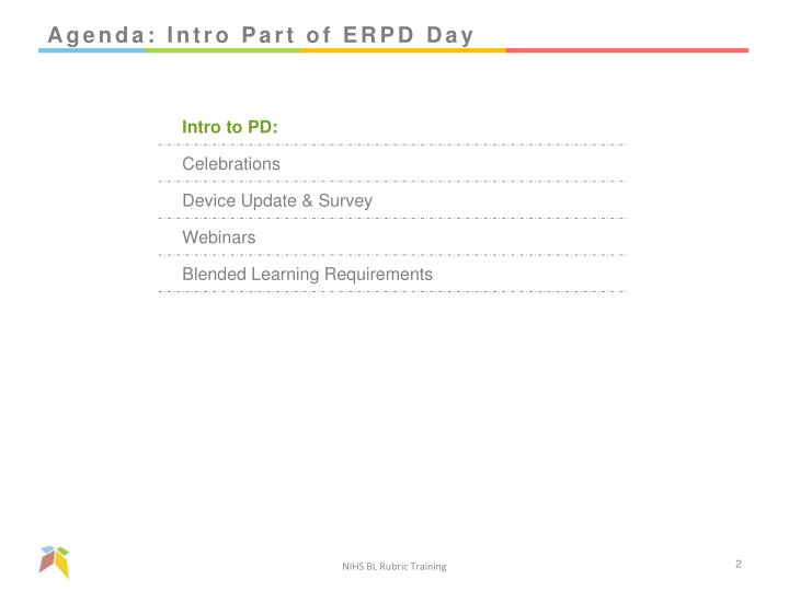 Agenda intro part of erpd day
