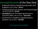 accomplishments of the new deal