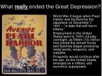 what really ended the great depression