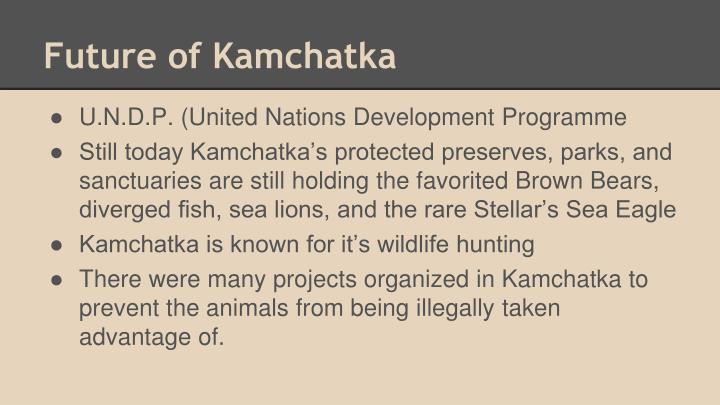 Future of Kamchatka