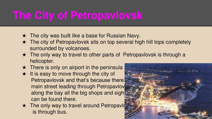 The City of Petropavlovsk