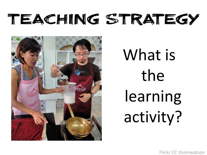 What is the learning activity?