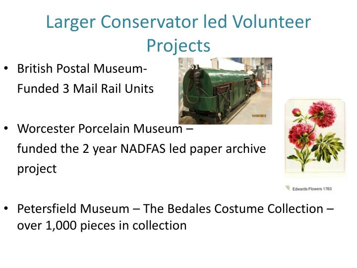 Larger Conservator led Volunteer Projects