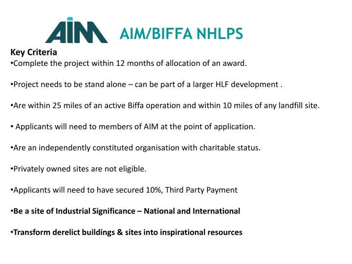 AIM/BIFFA NHLPS