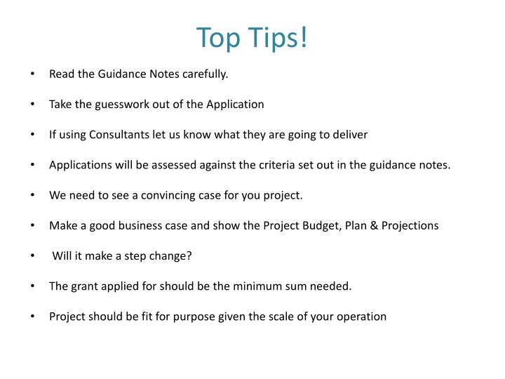 Top Tips!