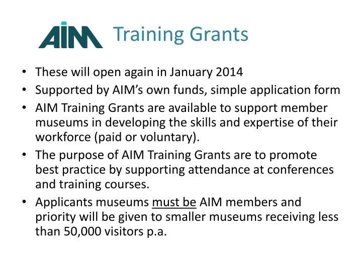 Training Grants