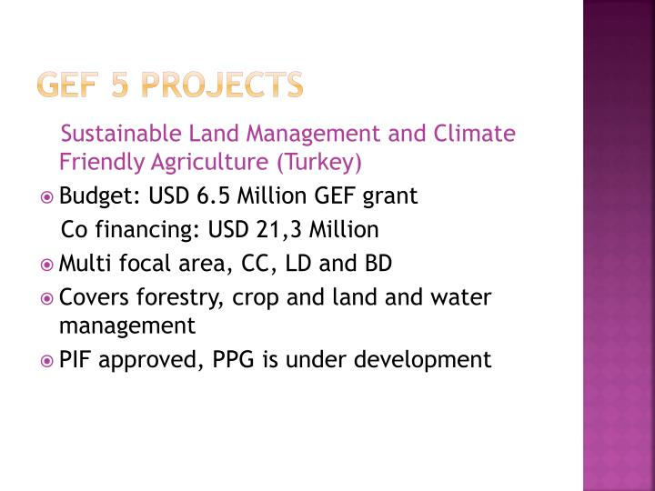 GEF 5 Projects