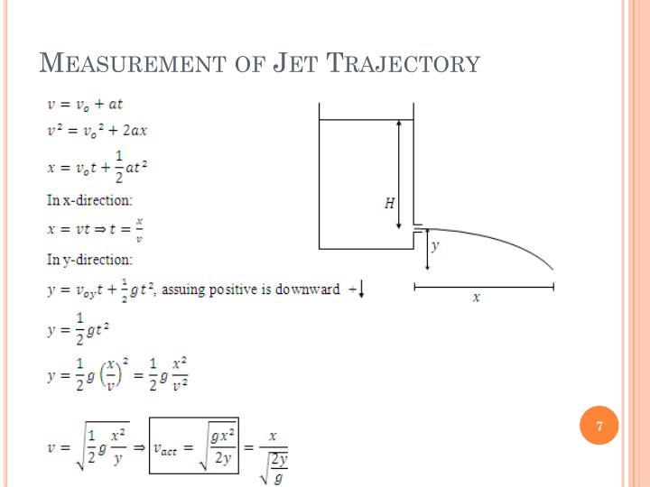 Measurement of Jet Trajectory