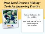 data based decision making tools for improving practice