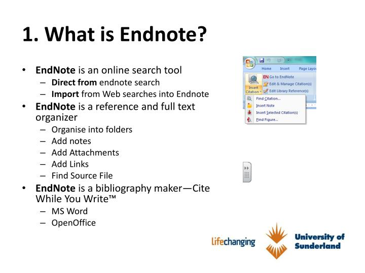 1 what is endnote