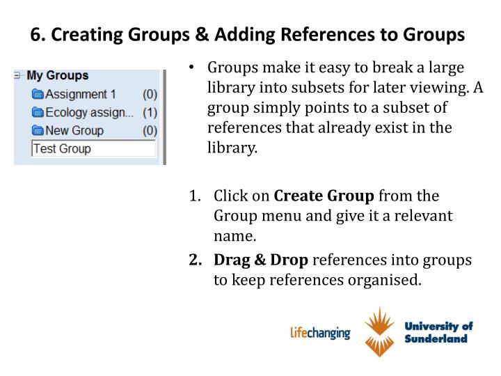 6. Creating Groups & Adding References to Groups