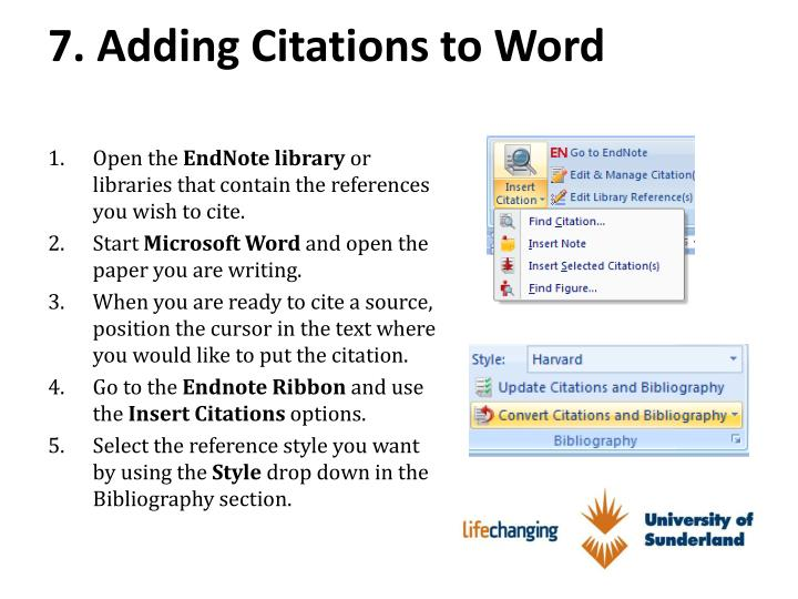7. Adding Citations to Word