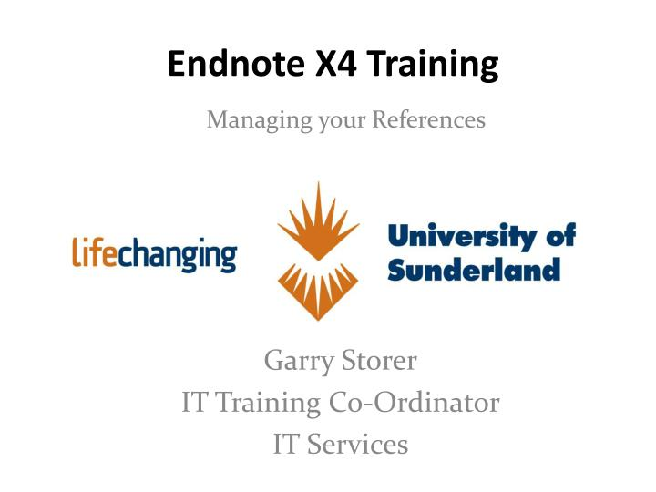 Endnote x4 training