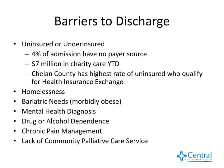 Barriers to Discharge