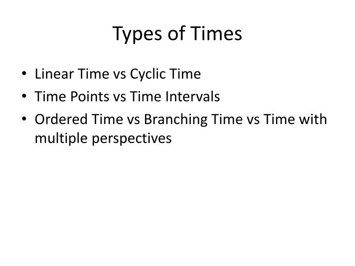 Types of Times