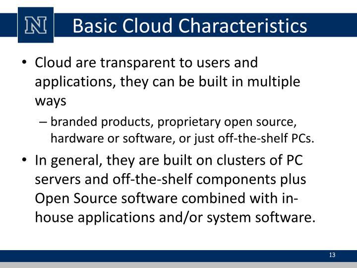 Basic Cloud Characteristics