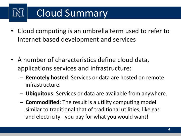 Cloud Summary
