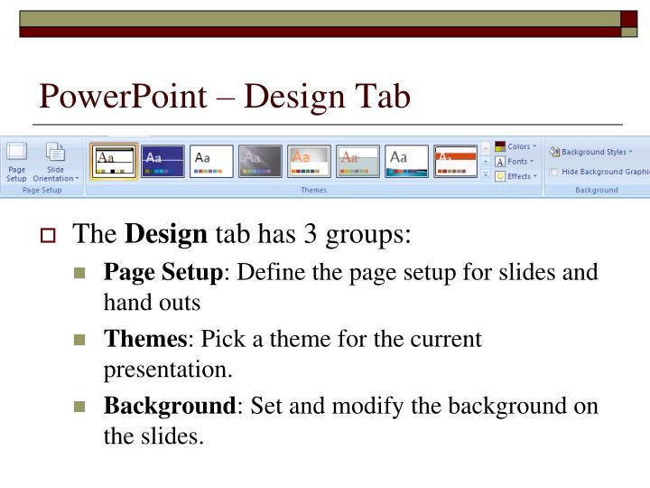 Powerpoint design tab1