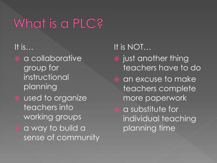 What is a PLC?