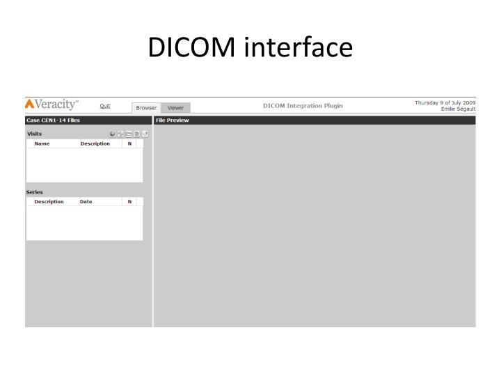 DICOM interface