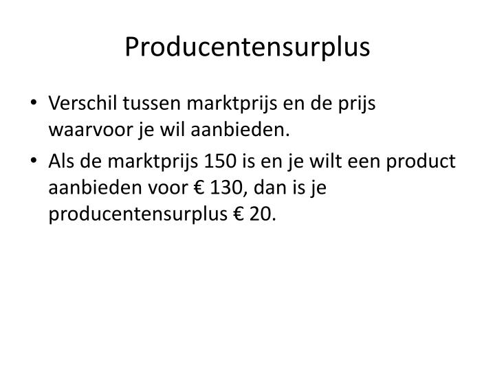 Producentensurplus