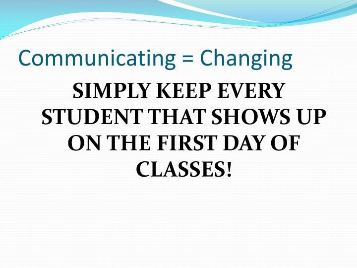 Communicating = Changing