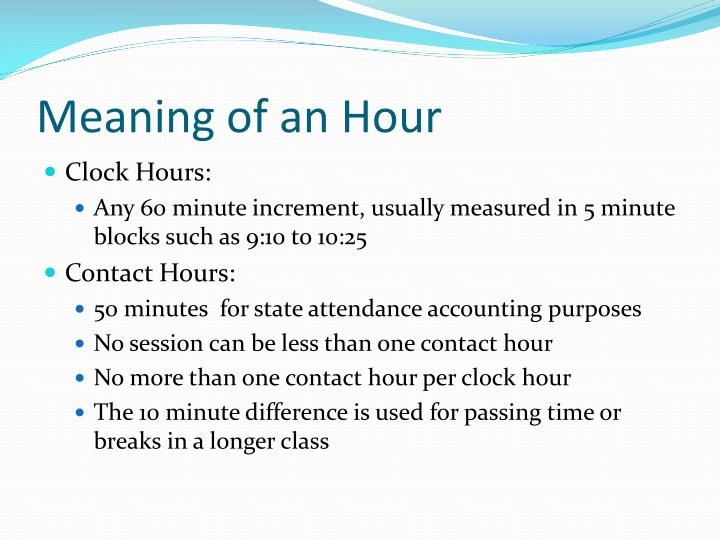 Meaning of an Hour