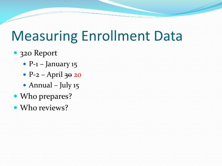 Measuring Enrollment Data