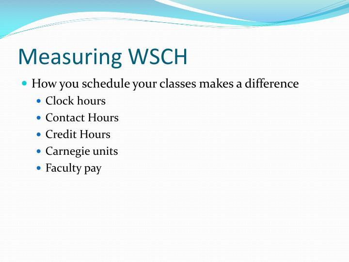 Measuring WSCH