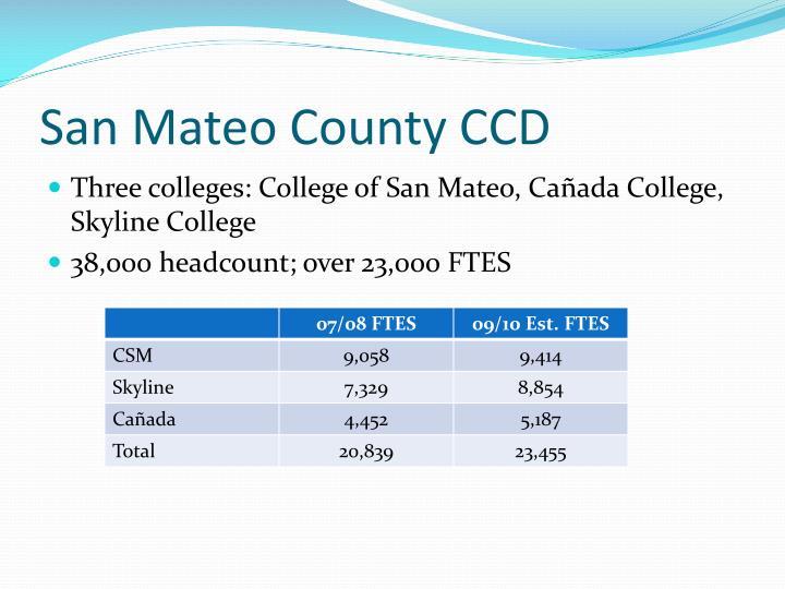 San Mateo County CCD